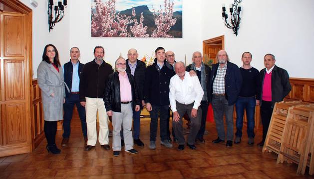 Los donantes que fueron galardonados en la fiesta anual de la delegación de Adona de Fitero.