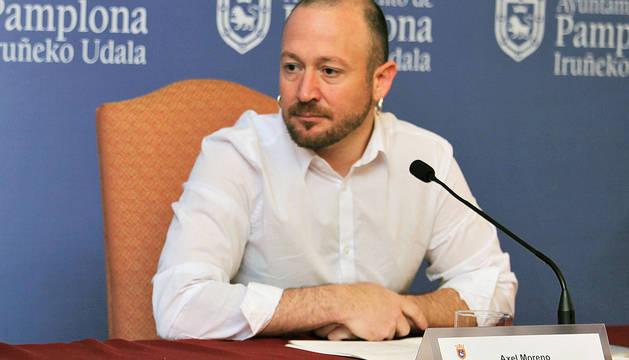Axel Moreno, en 2016, cuando era director de Participación Ciudadana del Ayuntamiento de Pamplona.