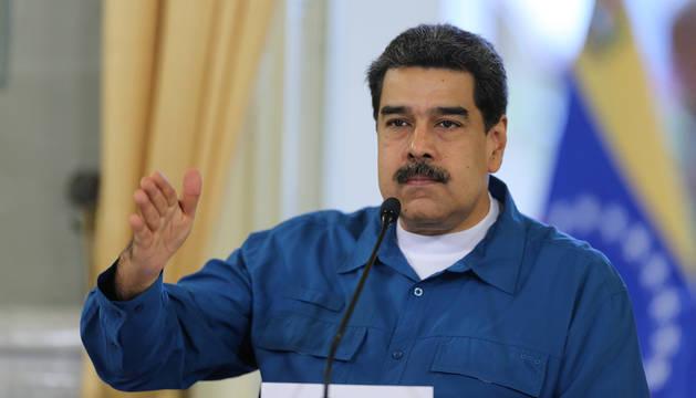 Maduro, en el Palacio de Miraflores.