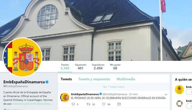 La Embajada de España en Dinamarca anuncia en Twitter las elecciones quince minutos antes que Sánchez
