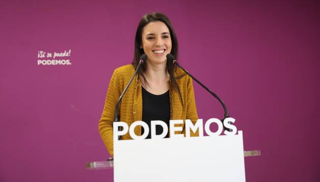 Foto de la portavoz Unidos Podemos en el Congreso de los Diputados, Irene Montero.