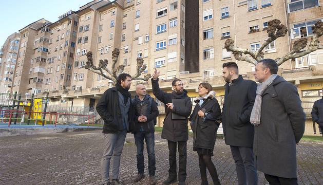 Viviendas en Zizur, que serán las primeras en rehabilitarse.