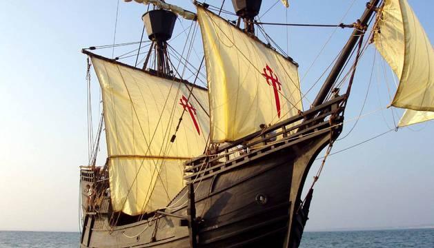 Réplica de la nao 'Victoria',que contó con dos navarros en su tripulación y con la que Juan Sebastián Elcano completó la primera vuelta al mundo en 1522.