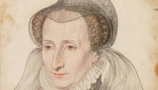Imagen de Juana de Albret (1528-1572), que ilustra la entrada dedicada a Juan de Albret (1469-1516)