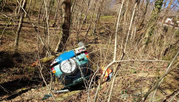 Estado en el que ha quedado el vehículo tras el accidente.