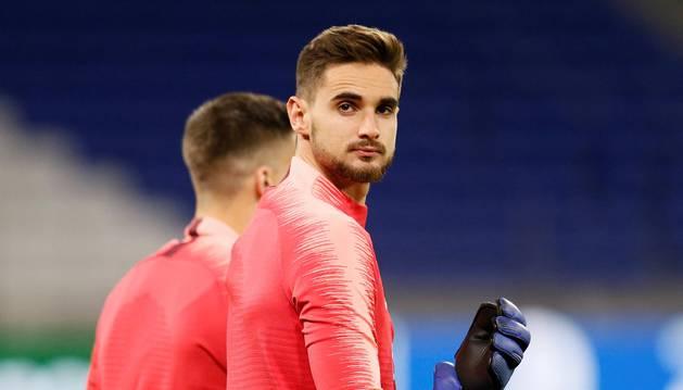 El navarro Jokin Ezkieta, que milita en el filial del Barcelona, entró en la lista del primer equipo para el partido de Champions.