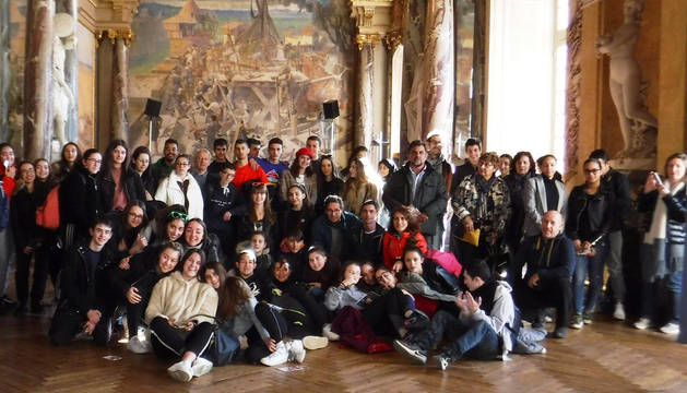 Los alumnos, en un momento de su viaje a Toulouse.