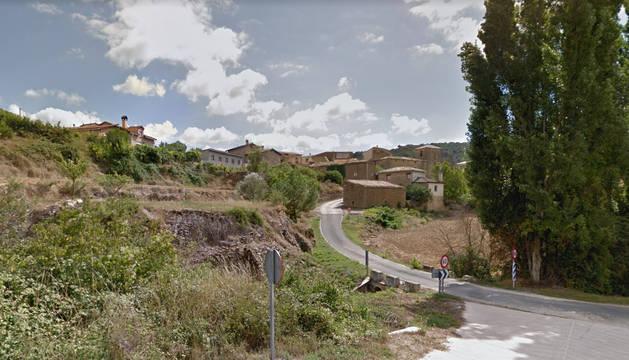 Vista general de Maquirriain, perteneciente al concejo de Leoz.