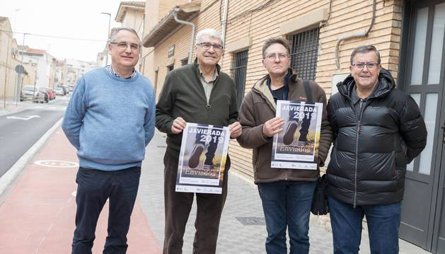De izda. a dcha., Txema Vicente, Chus Rodríguez, Ángel Paz y Chente González.