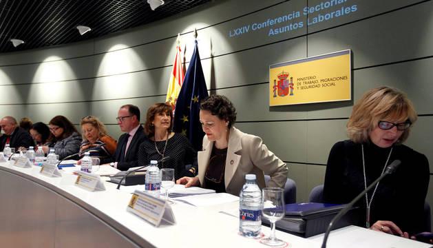 La ministra de Trabajo, Migraciones y Seguridad Social, Magdalena Valerio, ha presidido este jueves la LXXIV Conferencia Sectorial de Empleo y Asuntos Laborales