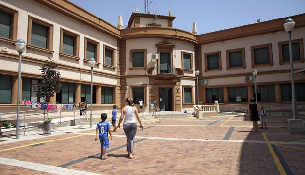Imagen del edificio del centro cívico Lestonnac, cuya rehabilitación ha salido a concurso.