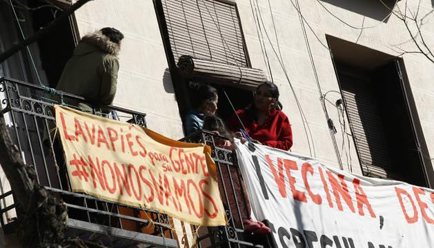 Protesta en el desahucio en Lavapies
