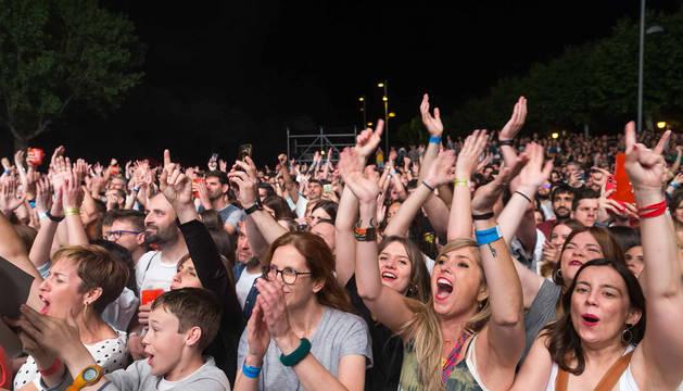 El público, en el concierto de Izal en el Navarra Sur de 2018.