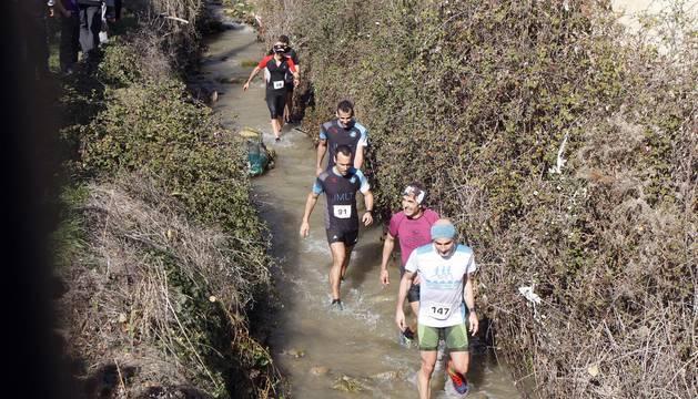 Imágenes de la carrera celebrada este domingo, 24 de febrero, en Aibar.