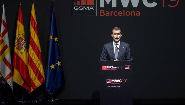 Foto de la cena de recepción oficial de los asistentes al Mobile World Congress (MWC).