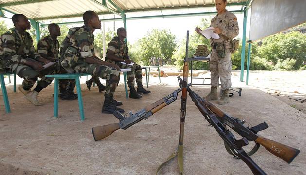 Un soldado español, en el centro de instrucción de Koulikoro en Malí en 2314.