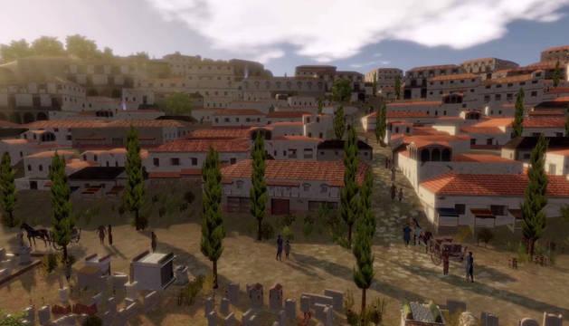Santa Criz de Eslava 'renace' en 3D
