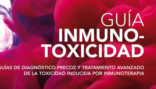 """Cartel de la presentación de la """"Guía de Inmunotoxicidad"""", que tendrá lugar el miércoles, 27 de febrero, a las 16:30 h, en el Campus Madrid de la Universidad de Navarra."""