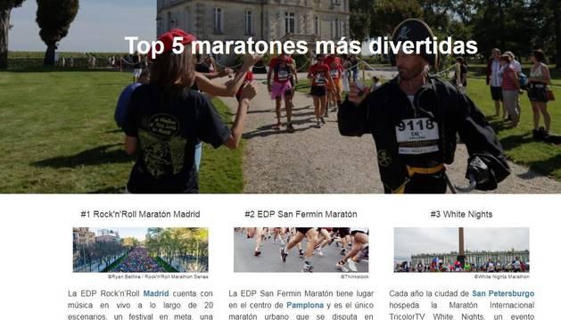'Top 5 maratones más divertidas' de HometoGo, con la navarra segunda.