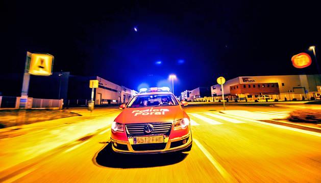 Patrulla de la Policía Foral.