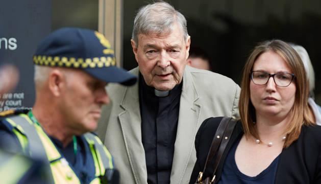 El cardenal australiano George Pell, en la Corte este martes en Melbourne (Australia).