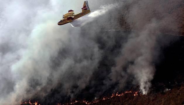 Imágenes del incendio de Goizueta
