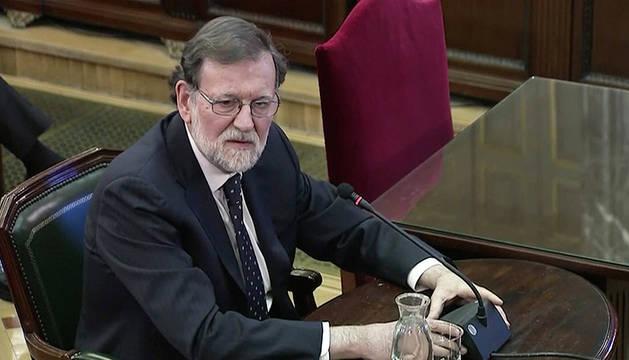 Mariano Rajoy, declarando en el juicio del Procés.