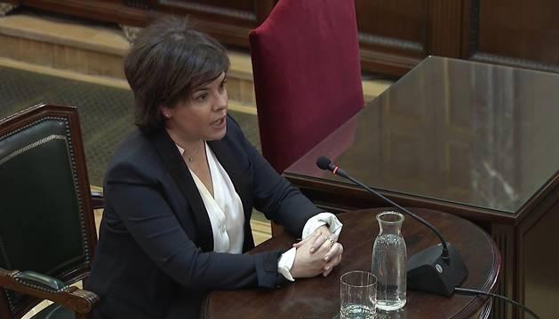 La exvicepresidenta, en el juicio del Procés