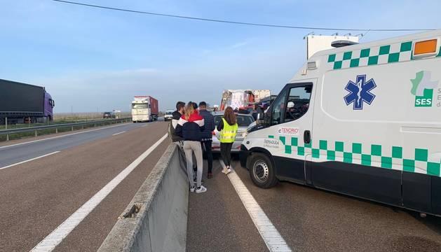 Dieciséis heridos en un accidente en la frontera de Portugal con Badajoz