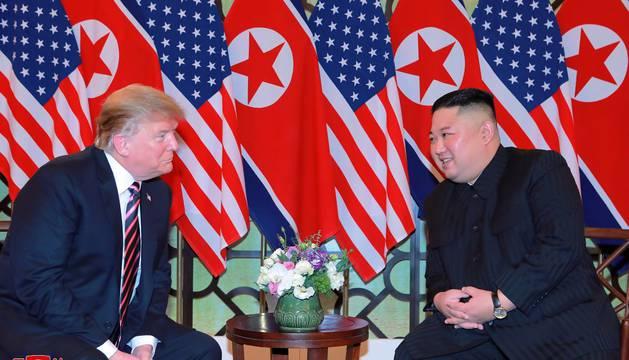 Trump y el líder norcoreano