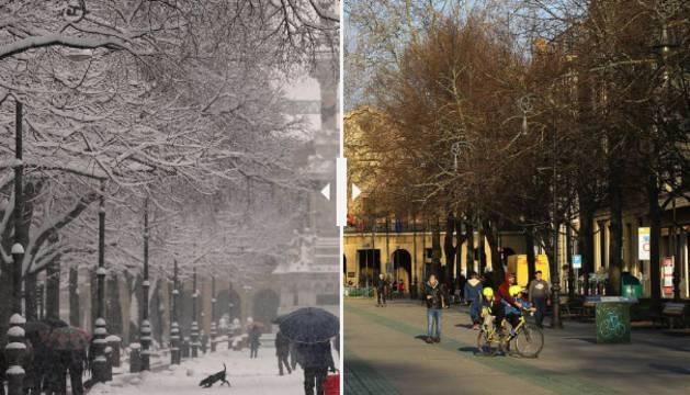 El paseo de Sarasate de Pamplona en 2018 y 2019.