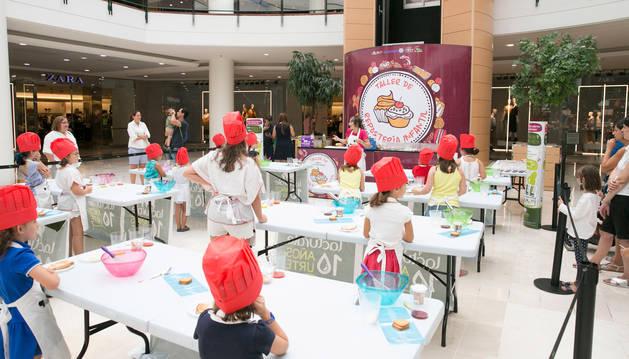 Un taller de repostería infantil anterior en La Morea.
