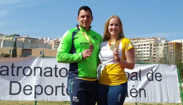 Kintana, oro, con su pareja, Alejandro Vielva,plata.