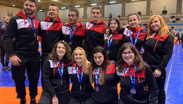 Aintzane Gorria, Maialen Guelbenzu, Oihane Vallez,Elena Arbea, Miren Huarte, Itziar Rekalde, Ahmed Panev e Ibai Gracia vuelven a Navarra con medalla.