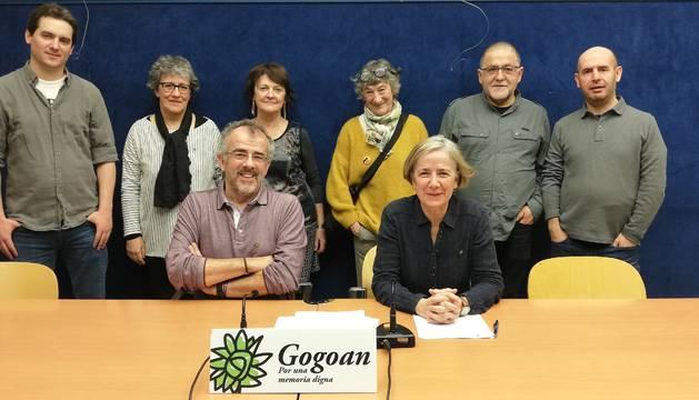 Presentación de la asociación Gogoan, por una memora digna