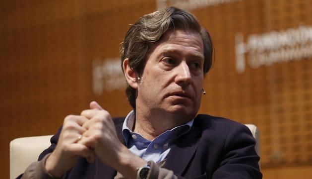 El filósofo Javier Gomá, en la conferencia que impartió en la Fundación Caja Navarra.