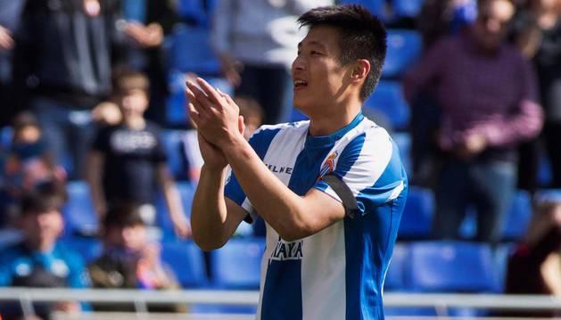 Wu Lei (Espanyol), primer jugador chino en marcar en LaLiga