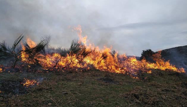 Incendio en Garaioa.