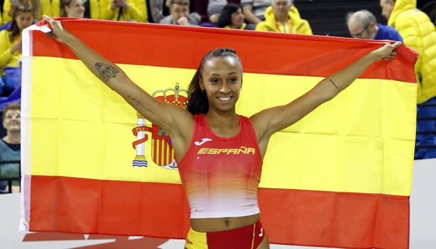Ana Peleteiro, campeona de Europa de triple salto con récord de España (14,73 m)