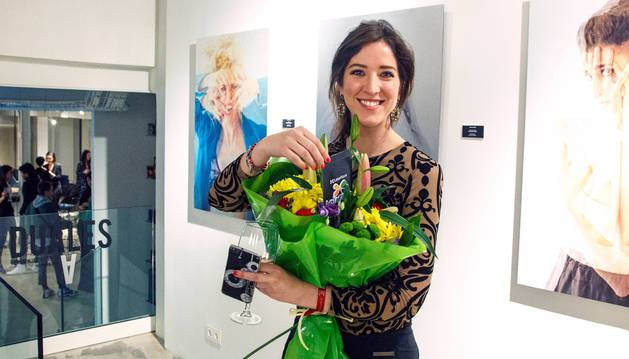 Foto de Natalia Echeverría López, el pasado sábado en la inauguración de la exposición, que se puede visitar en la sala Oculto de Madrid hasta el próximo sábado.