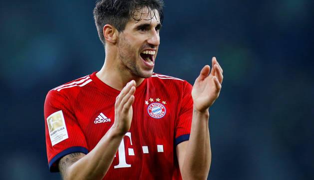 Javi Martínez marcó un gol para el Bayern.
