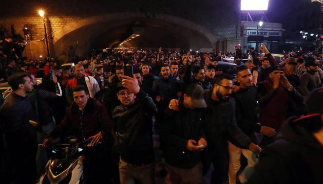Concentración en Argel contra la candidatura de
