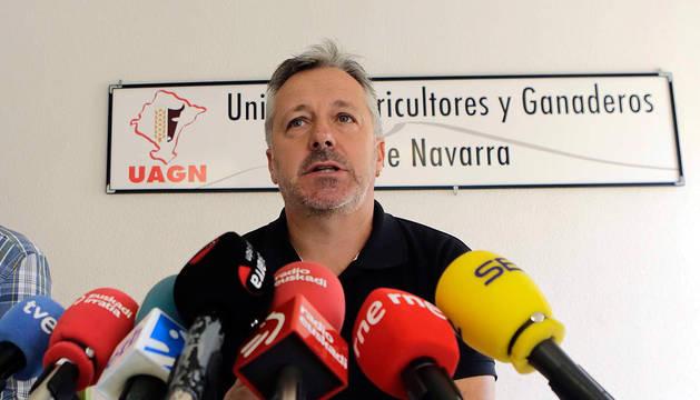 El presidente de la UAGN, Félix Bariáin.
