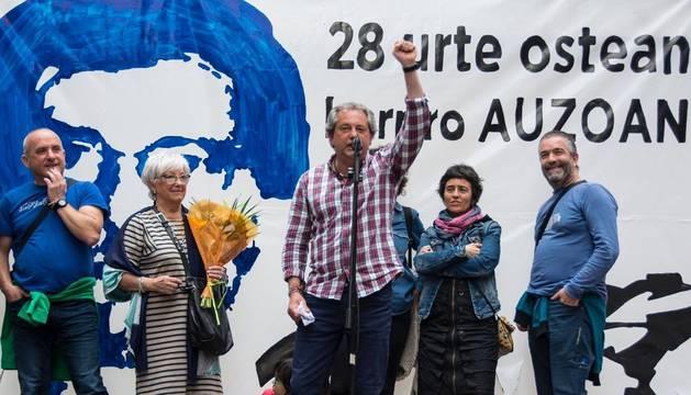 Homenaje al etarra German Urizar en Bilbao.