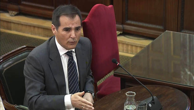El exsecretario de Estado de Seguridad José Antonio Nieto, durante su declaración en el Tribunal Supremo