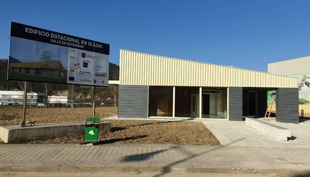 Foto de La obra del nuevo centro cívico de Olloki está a punto de completarse.