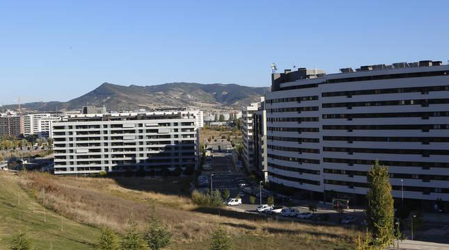 Foto de la ripa de Erripagaña donde se proyecta construir 191 viviendas de alquiler social.