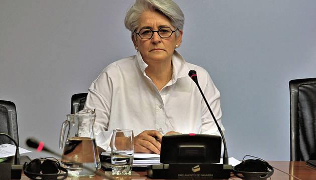 Lourdes Goicoechea, en la comisión de investigación sobre Sodena.