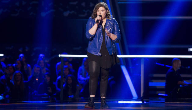 Hannah Labotka cantó 'When we were young' anoche en 'La Voz'.
