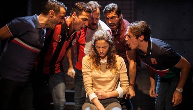Imagen promocional de la obra sobre el juicio de 'La Manada'.
